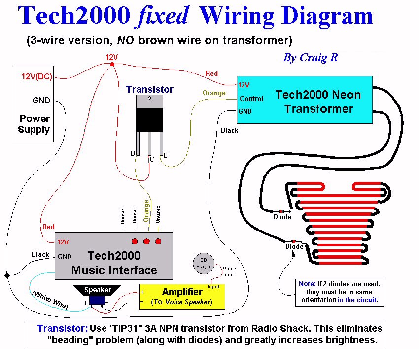 neon light wiring diagram