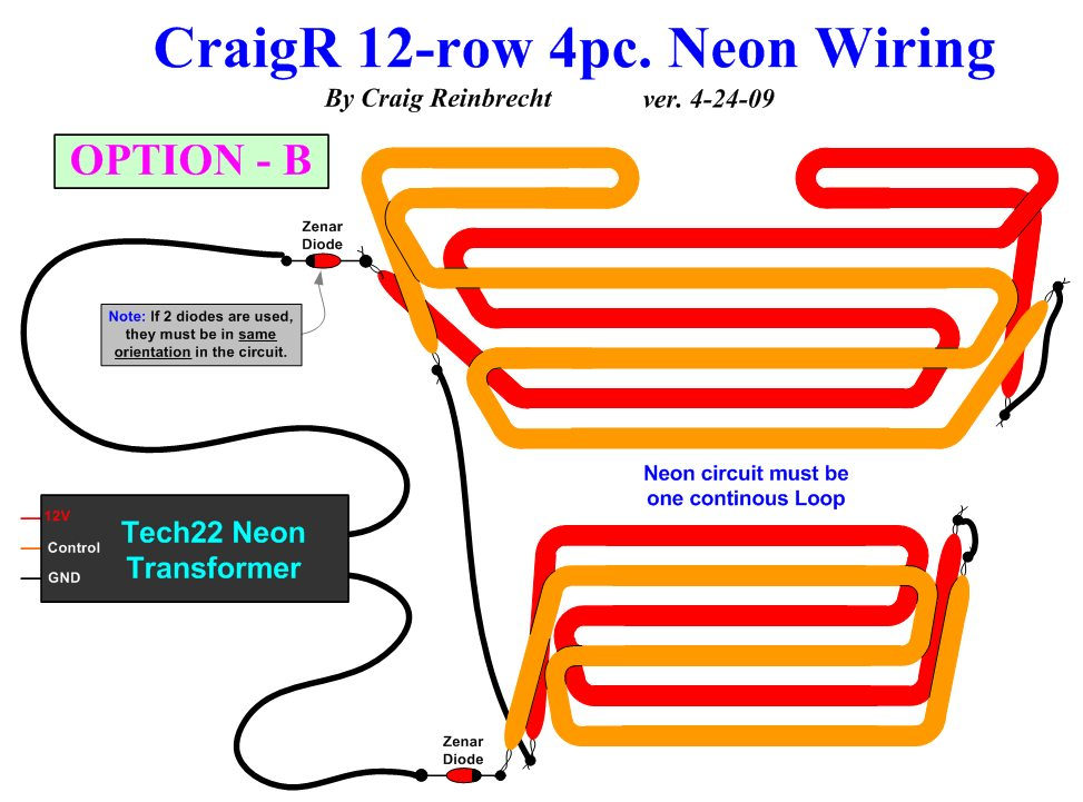 CraigR_12 row_4pc_Neon_Wiring_Diagram B_v4 24 09 neon lights wiring diagram radio wiring diagram \u2022 wiring diagrams neon sign transformer wiring diagram at honlapkeszites.co